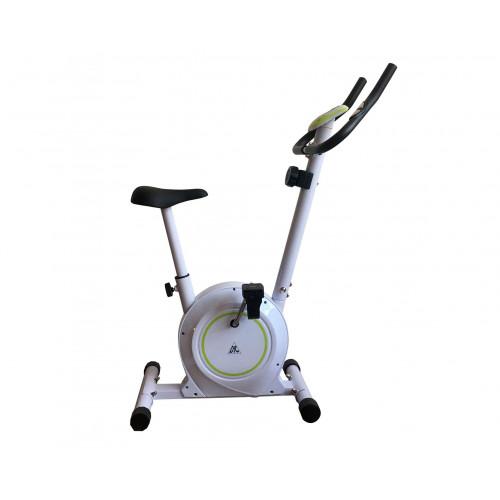 Велотренажер DFC B504B магнитный (белый корпус, зеленая полоса)