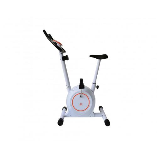 Велотренажер DFC B504BWO магнитный (белый корпус, оранжевая полоса)